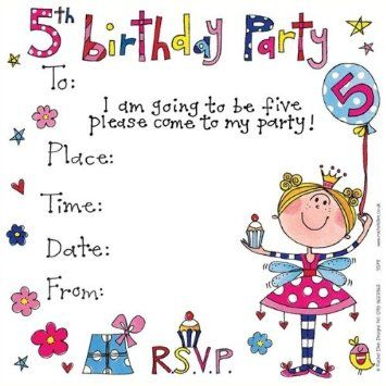 RACHEL ELLEN DESIGNS FAIRY 5th BIRTHDAY PARTY 8 INVITATION CARDS Amazoncouk Office Products