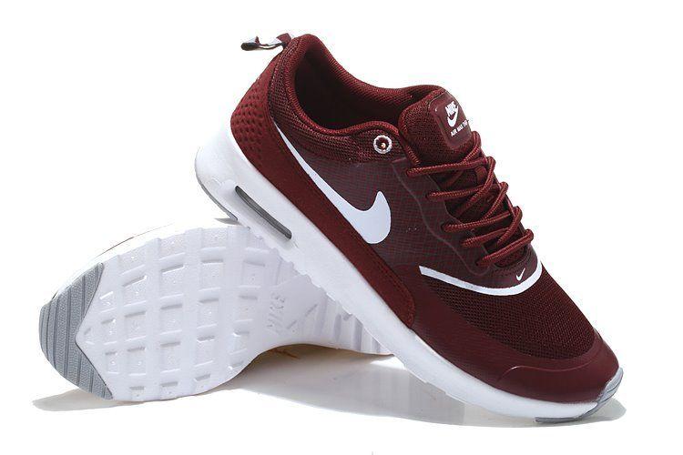 Nike Air Max Thea Femmes Bourgogne Blanc Jordans