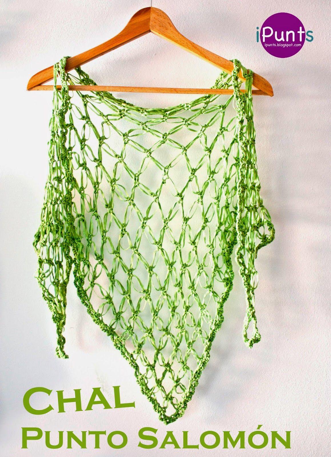 Aprende punto salomón a crochet y confecciona un chal con los ...