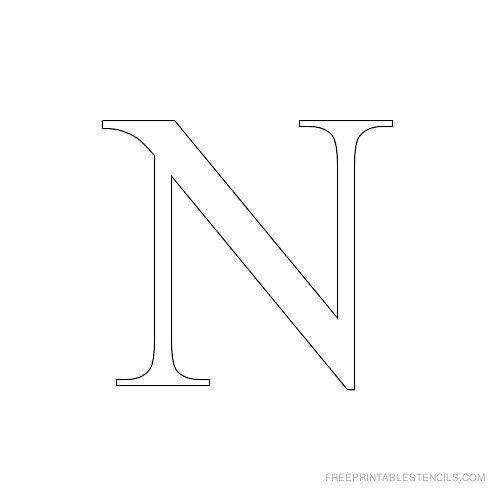 Printable Times New Roman Alphabet Stencil N Alphabet Stencils Letter Stencils Printables Letter Stencils To Print