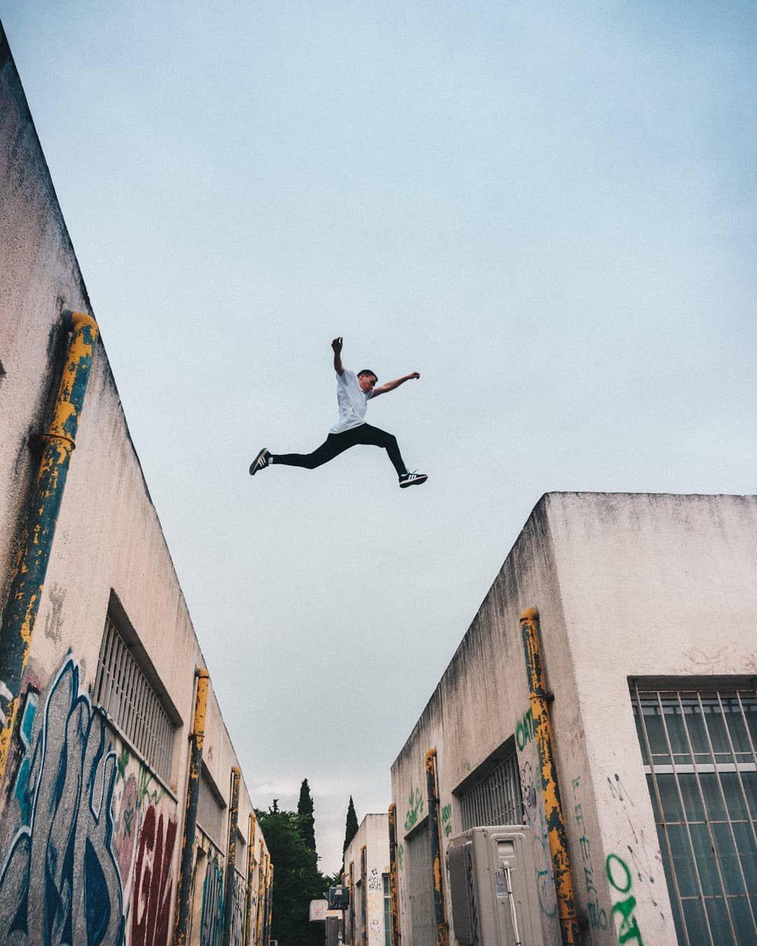 Roof Jump Parkour Moves Parkour Photo