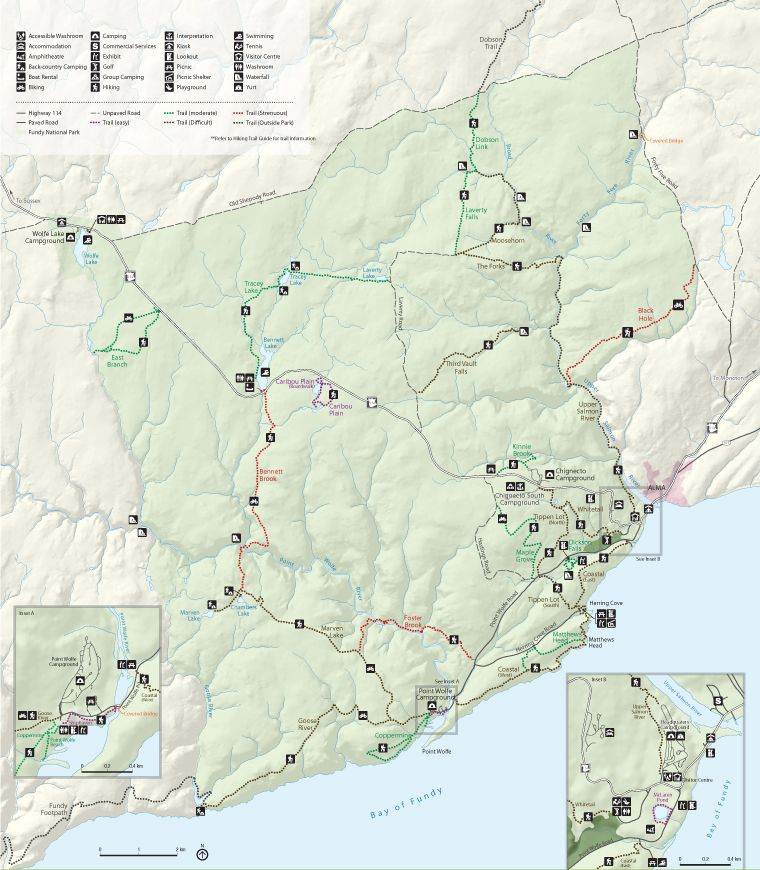 Fundy National Park of Canada Summer Activity Map Summer Vacations
