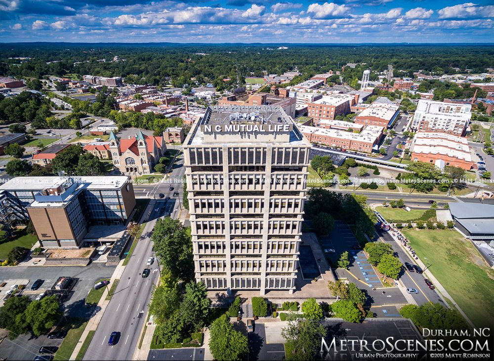 Aerial Of North Carolina Mutual Life Insurance Company Building