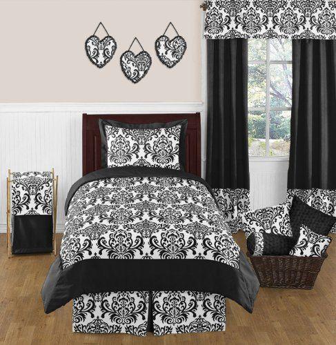 Amazon.com : Black and White Isabella Girls Window Valance by Sweet Jojo Designs : Baby Nursery Window Treatments : Baby