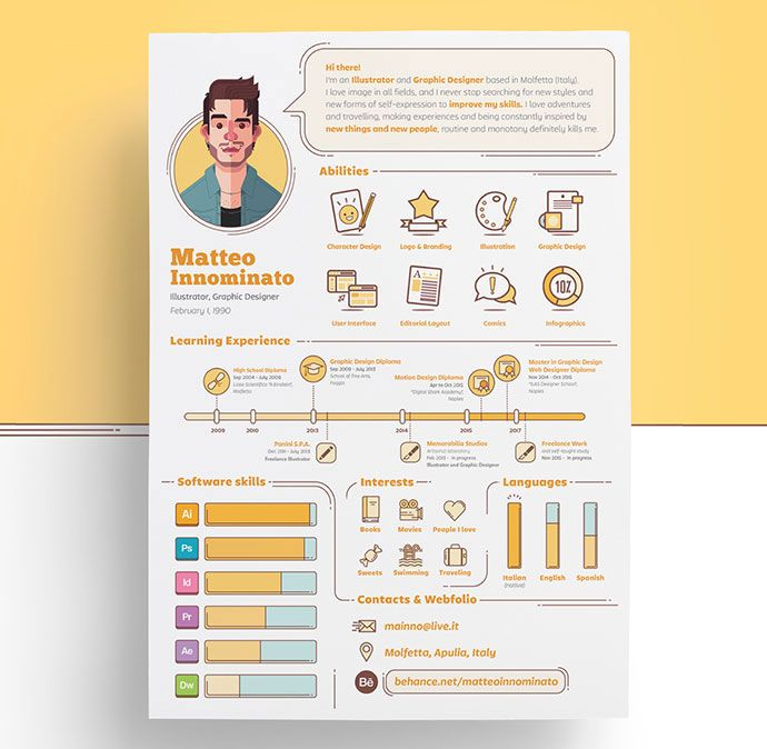 26 examples of unbeatable resume designs