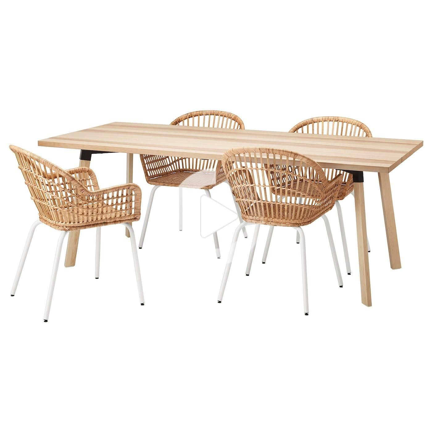 Ikea Ypperlig Nilsove Table Et 4 Chaises In 2020 Ikea Dining Rattan Ikea