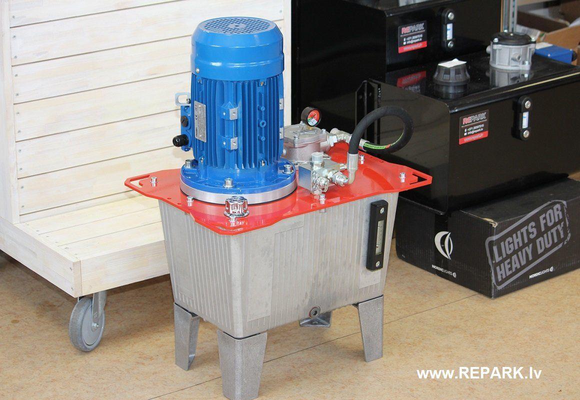 Hydraulic power pack REPARK Power pack, Trash can, Hydraulic