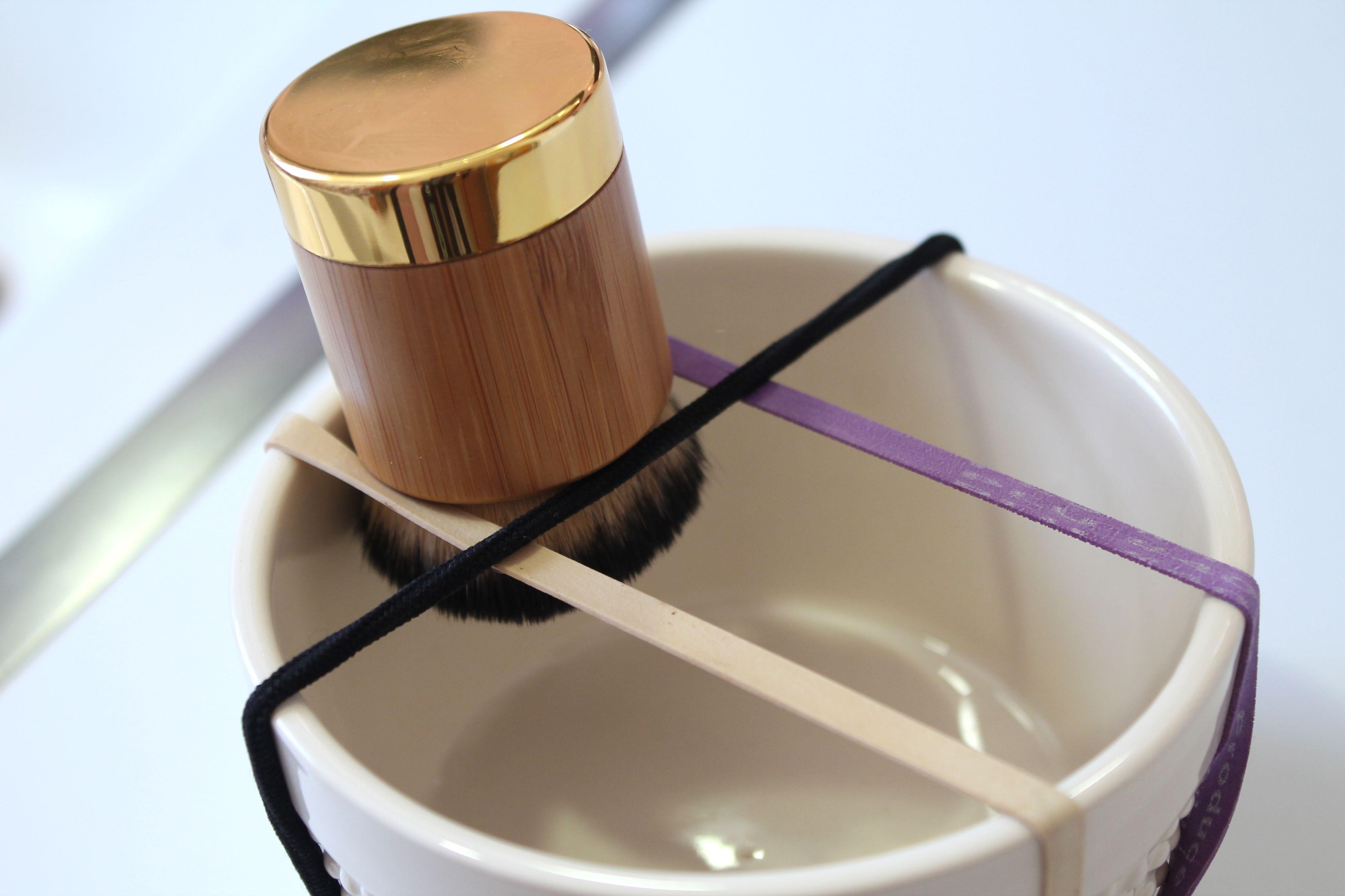 how to dry makeup brushes(kabuki)