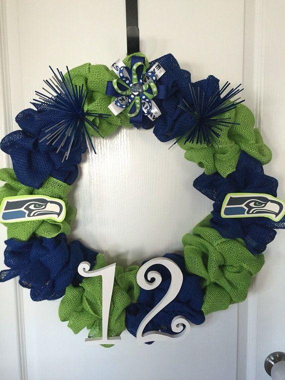 Photo of Items similar to Custom Seattle Seahawks Burlap Wreath on Etsy
