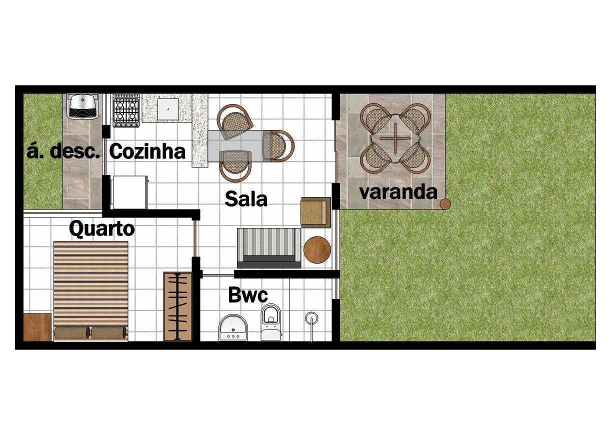 Planta Casa Pequena Cozinha Americana Oppenau Info