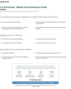 Worksheet. Activities Worksheets Part 2. Research paper ...