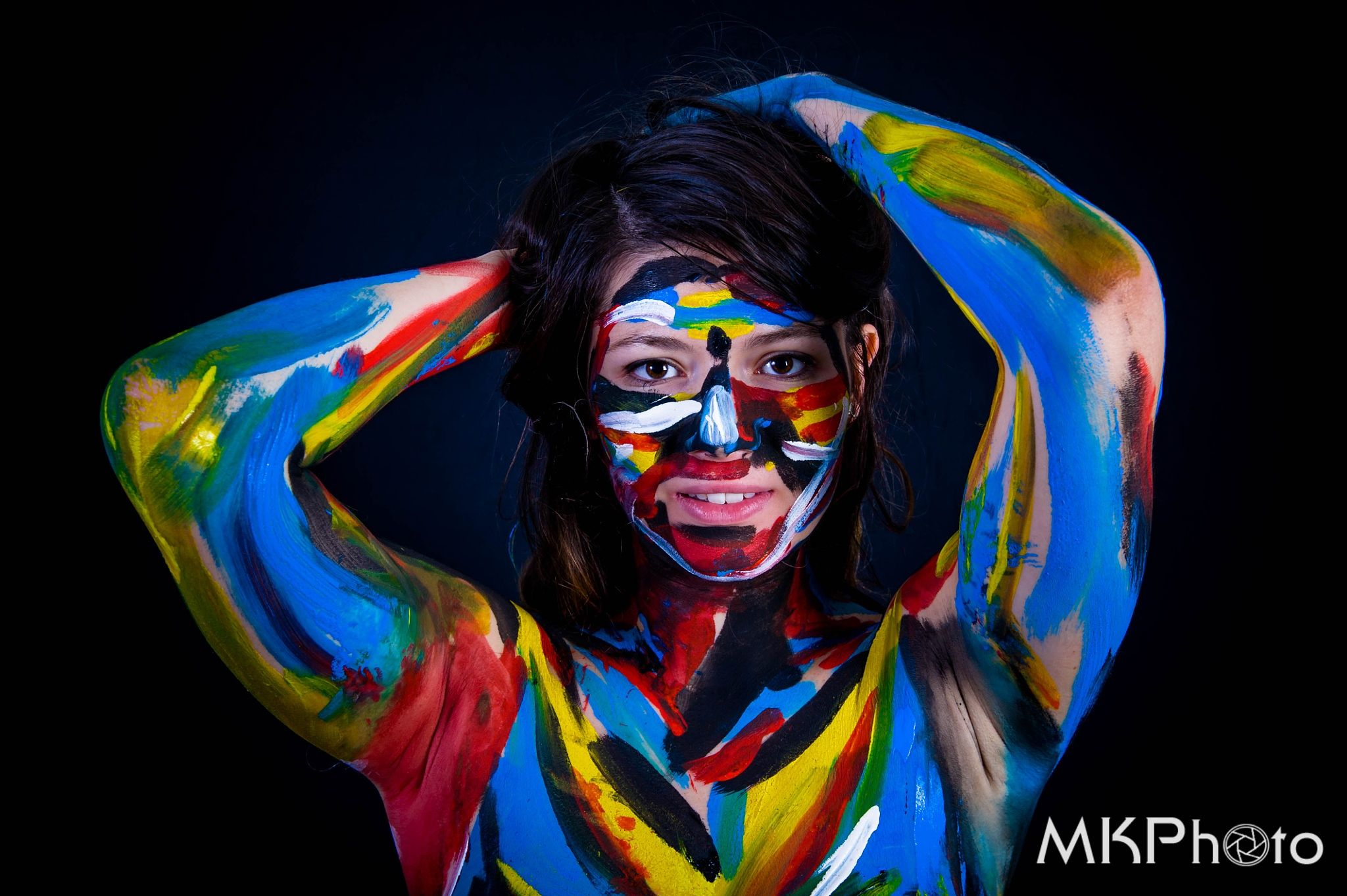 Body painting MK by Z  on 500px