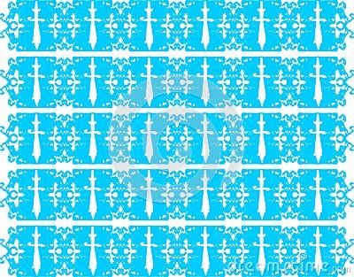 An decorated background with stylized daggers.