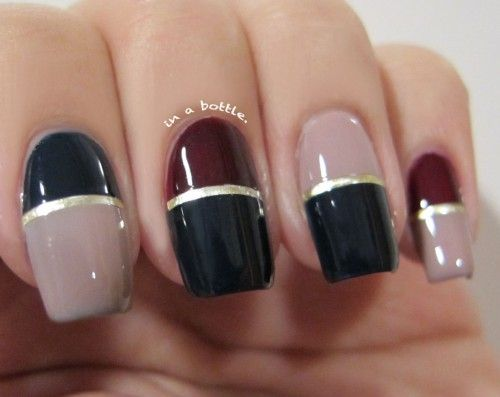 Two color nail art simple nail design ideas 44314 diy nail two color nail art simple nail design ideas 44314 prinsesfo Gallery