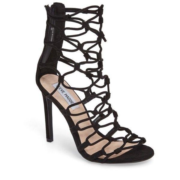 2032e2920fd Women s Steve Madden Mayfair Latticework Tall Sandal ( 100) ❤ liked on  Polyvore featuring shoes