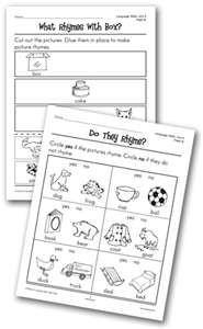 Rhyming worksheets visit us at www.Gr8speech.com and meet