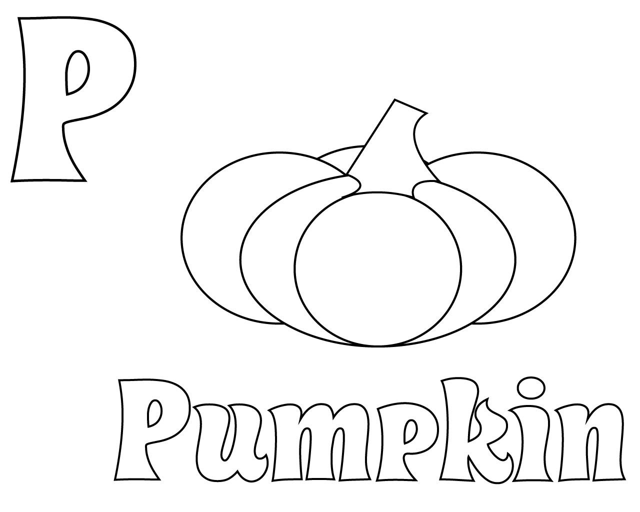 Free Printable Letter P Coloring Pages