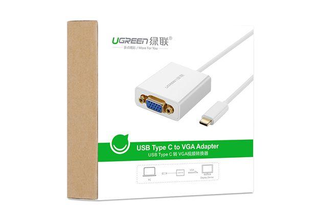 دیجیک   تبدیل USB Type-C یا پورت 3.1 جدید به پورت VGA مانیتور مارک Ugreen مدل 40274