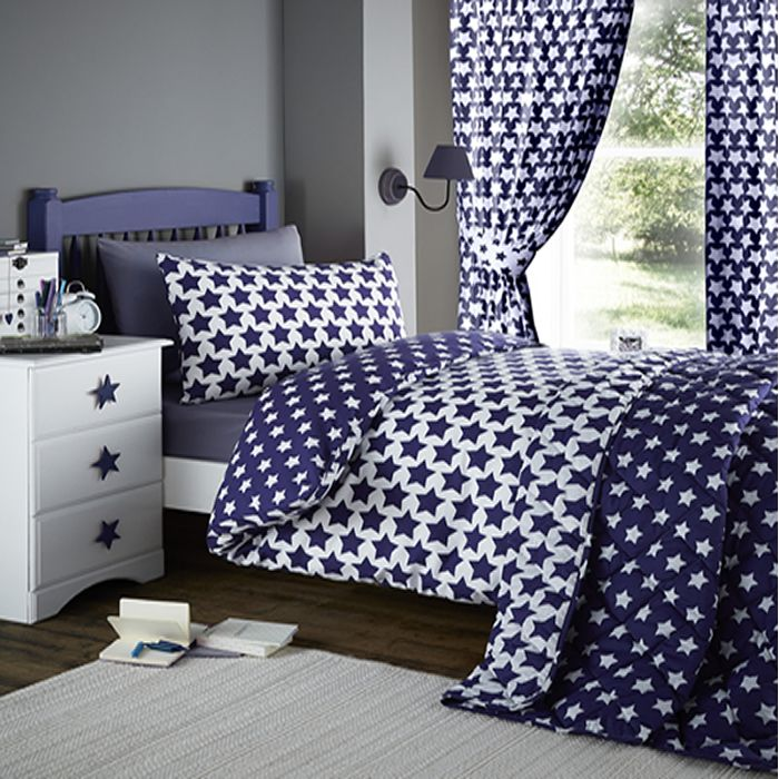 Etoile, Blue Star Single Bedding | Star Wars Bedroom ideas ... : junior bed quilt - Adamdwight.com