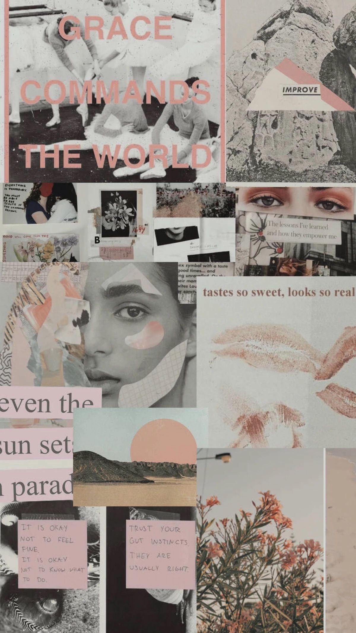 Masih Sama Kok Collage Background Aesthetic Iphone Wallpaper