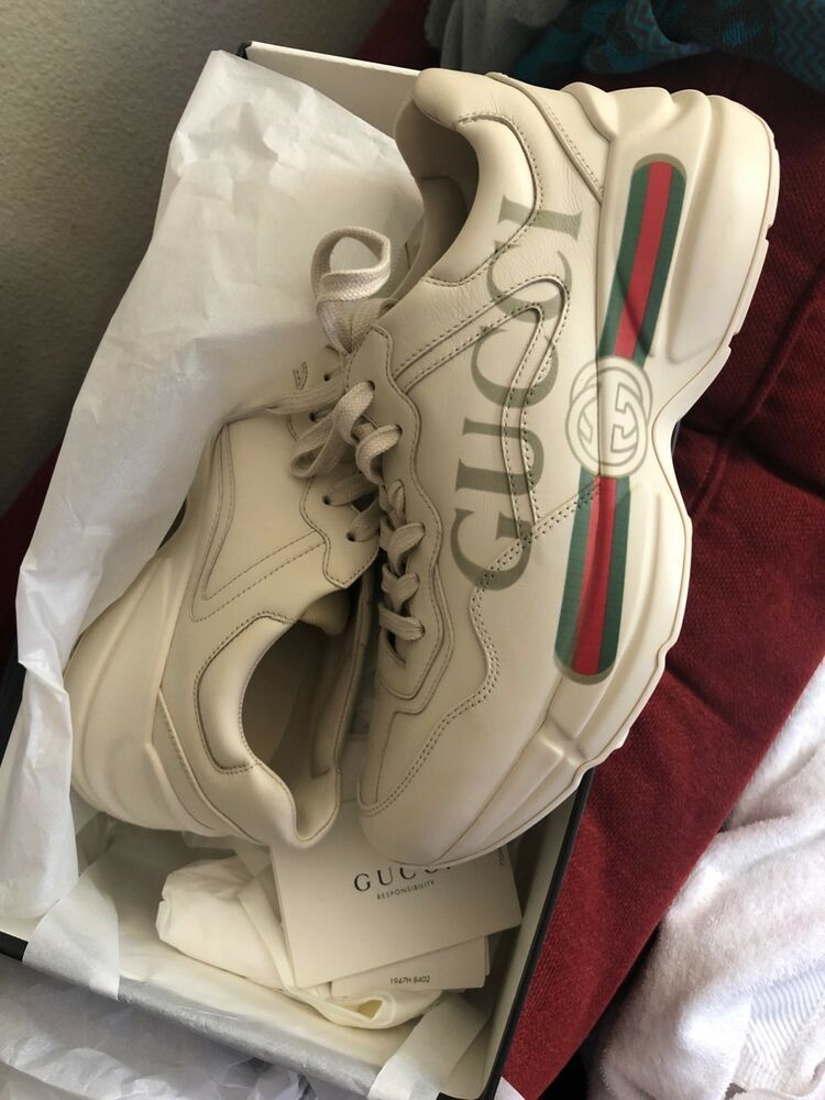 e5aa266ae92 Authentic Women s GUCCI Rhyton Logo Leather Sneaker Size 40.5  fashion   clothing  shoes  accessories  mensshoes  casualshoes (ebay link)