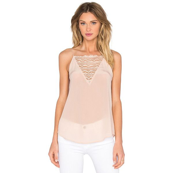 custommade Elvira Silk Cami Tops ($125) ❤ liked on Polyvore featuring tops, fashion tops, silk cami, cami tank, silk camisole tops, silk tank top and lace trim tank