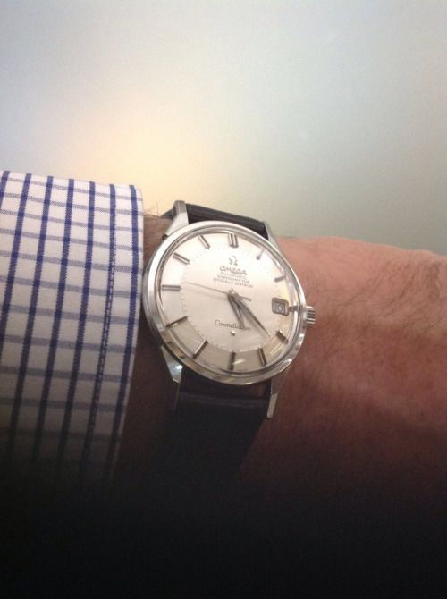 http://chicerman.com  omegaforums:  Beautiful Vintage OMEGA Constellation Piepan Chronometer In Stainless Steel Circa 1960s - https://omegaforums.net  #menshoes