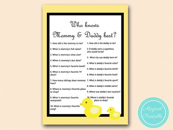 Who Knows Mommy And Daddy Best Game Printable By Magicalprintable
