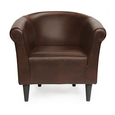 $99 Chestnut Brown Tub Chair at Big Lots. | Office space ...