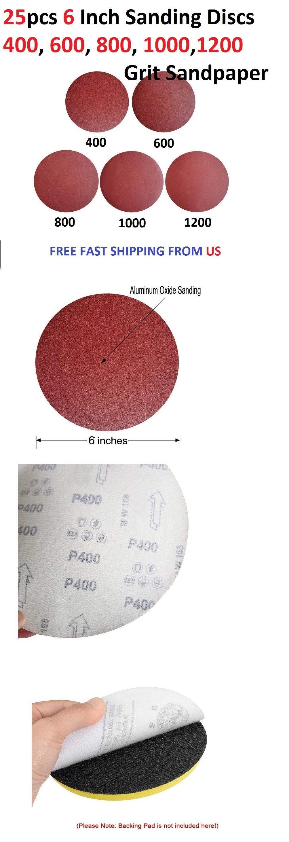 Sander Parts And Accessories 20796 25pcs 6 Inch Sanding Discs 400 600 800 1000 1200 Grit Sandpaper Buy It Now On Sanding Sandpaper Parts And Accessories