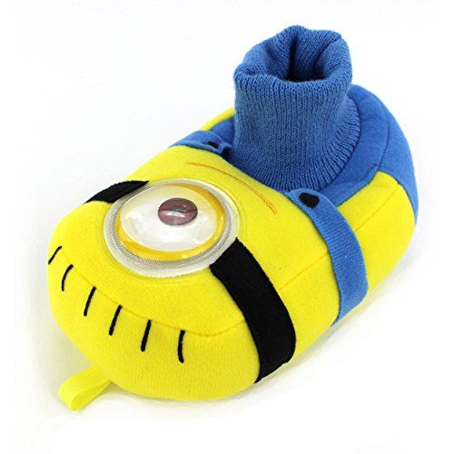 Despicable Me Minions Kids Stuart Sock Top Slippers