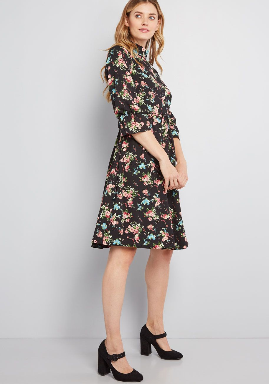 38489283ca Fashionably Dashing Floral Dress in 2019   Modcloth   Modcloth ...