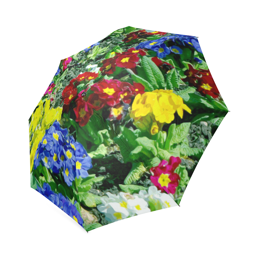 Red Blue Yellow Colorful Floral Garden Foldable Umbrella   Gardens ...