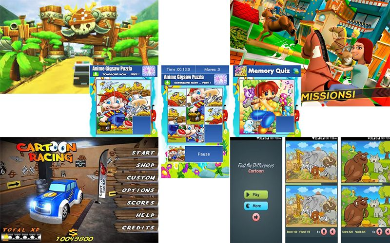 cartoon games free download for android