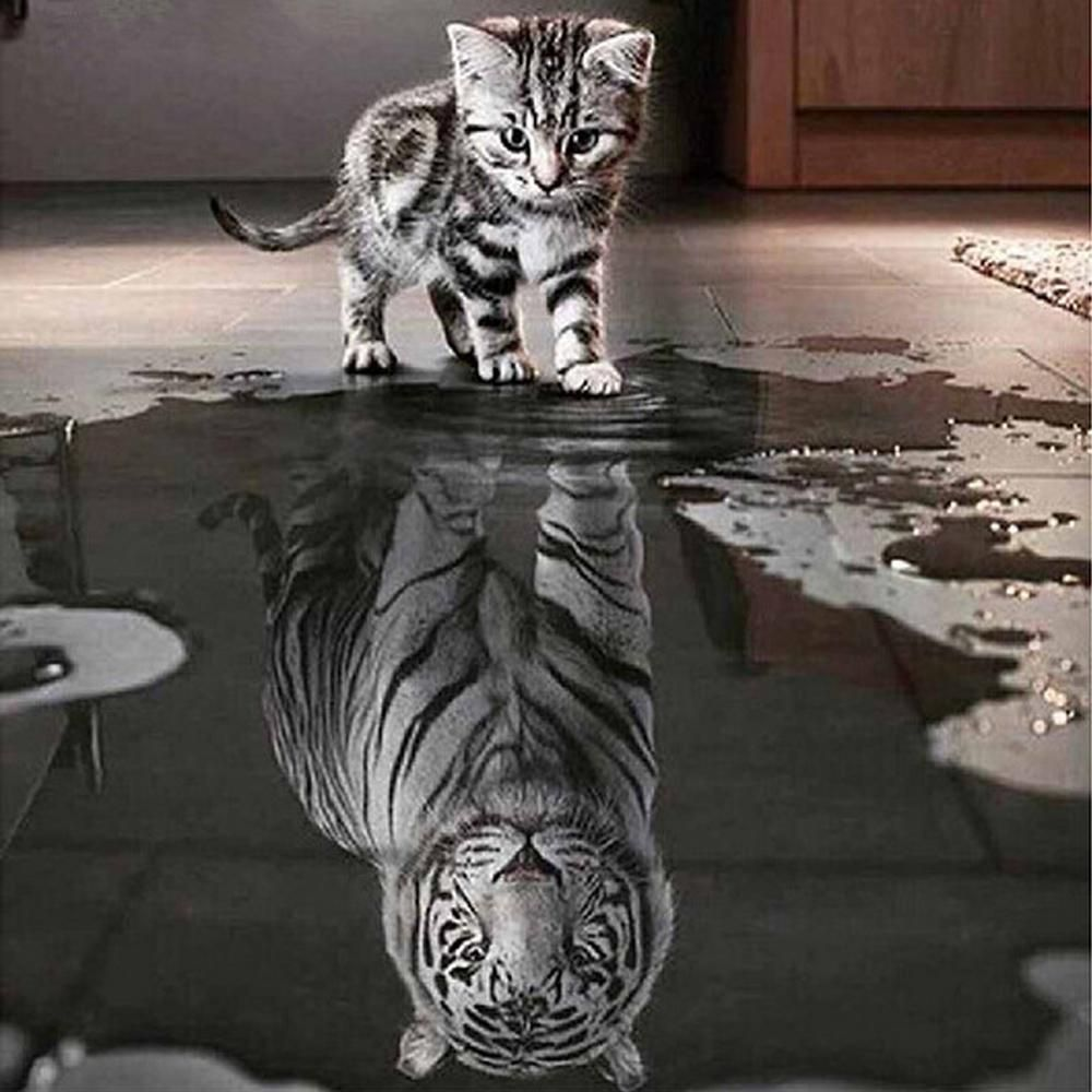 Diamond Painting - Courage: Cat or Tiger