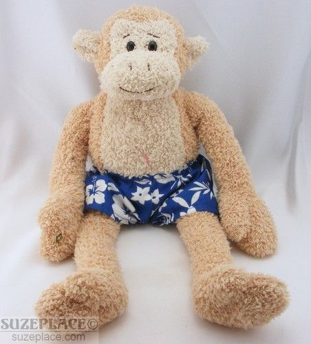 Pottery Barn Kids Pbk Gund Plush Monkey With Blue Hawaiian