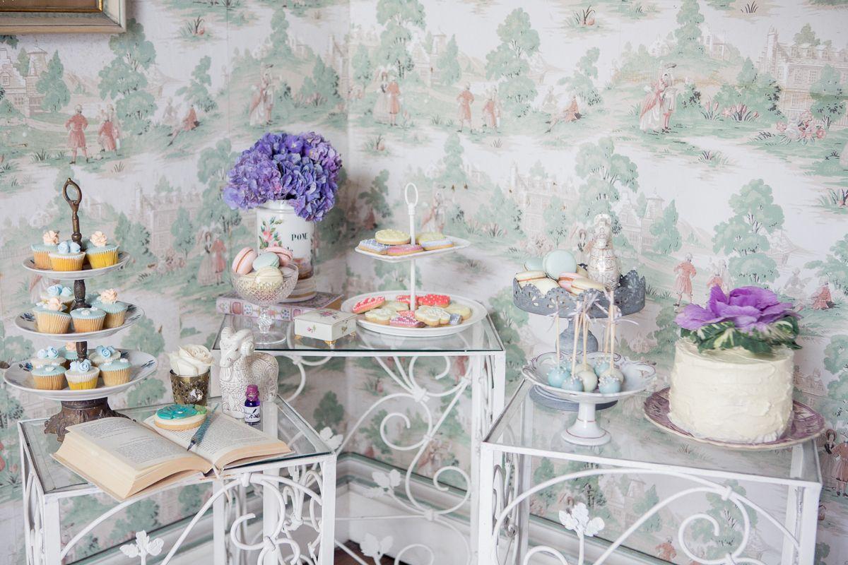 Tema Matrimonio Jane Austen : Mesa de postres por cómo pez en el agua comer y