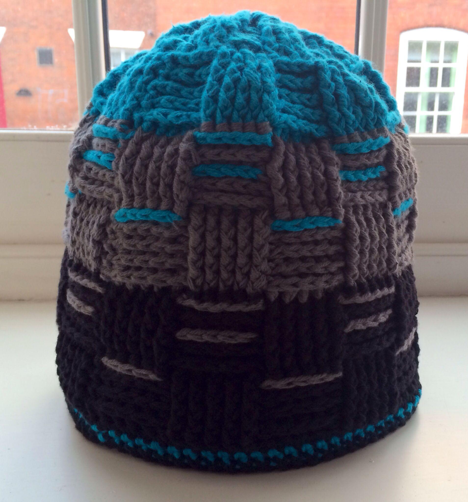 Mütze mit Korbmuster aus myBoshi No2 | Häkeln/Crochet | Pinterest ...