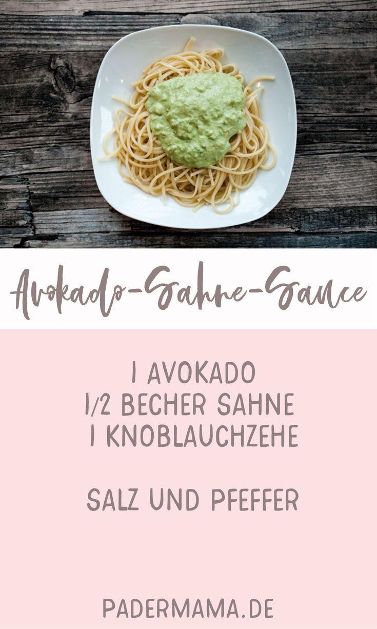 Avokado-Sahne-Sauce ~ Mamas eigene Nudelsauce #vegetarischeernährung