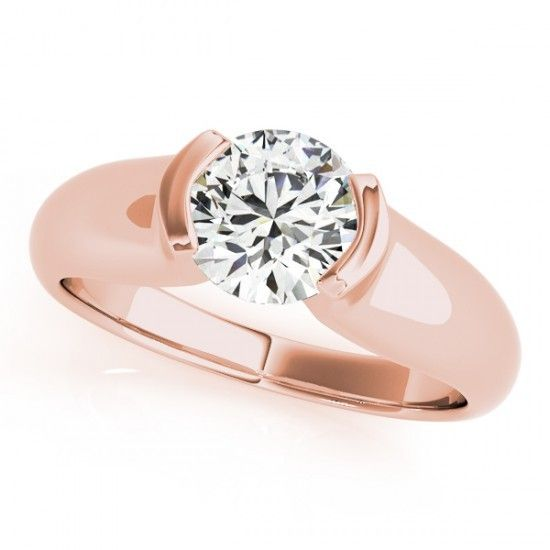 IRA ENGAGEMENT RING in 14K Rose Gold - Price: ₹13,721.00. Buy now at http://www.solitairehouse.com/ira-engagement-ring-in-14k-rose-gold.html
