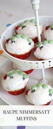 Kleine Raupe Nimmersatt Muffins: Ein Kindergeburtstagsrezept – #ein #Kindergebur… – Muffins Rezept
