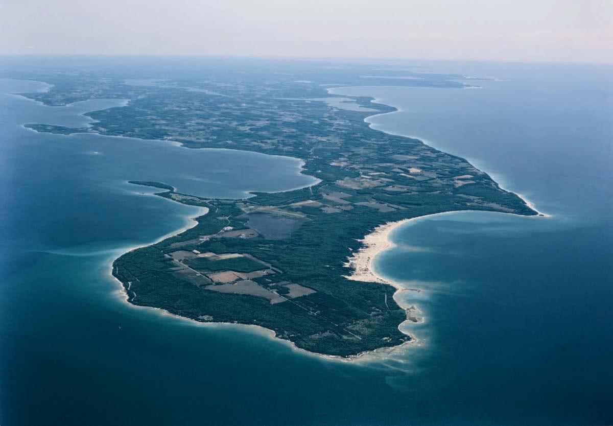 Leelanau Peninsula aerial view | Leelanau Peninsula Michigan ...