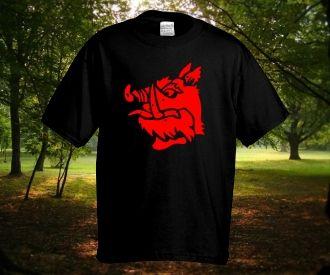 addebe3a34 Fekete Lovag póló rendelhető a Pólóműhelytől. A Gyalog Galopp legendás  figurájának címerállata :) Ezt a pint Pólóműhely Webáruház ...