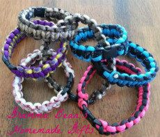 Paracord survival straps Bracelets and Key chains by grammabeans, $5.00