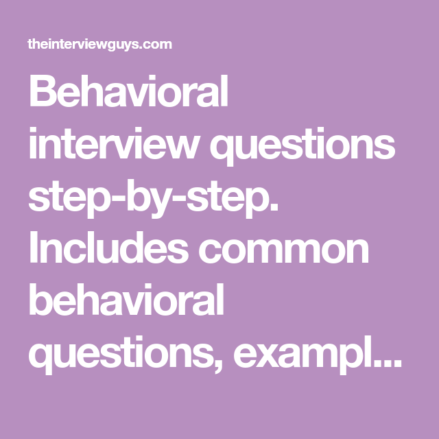 behavioral interview questions and answers 101 interviews jobs
