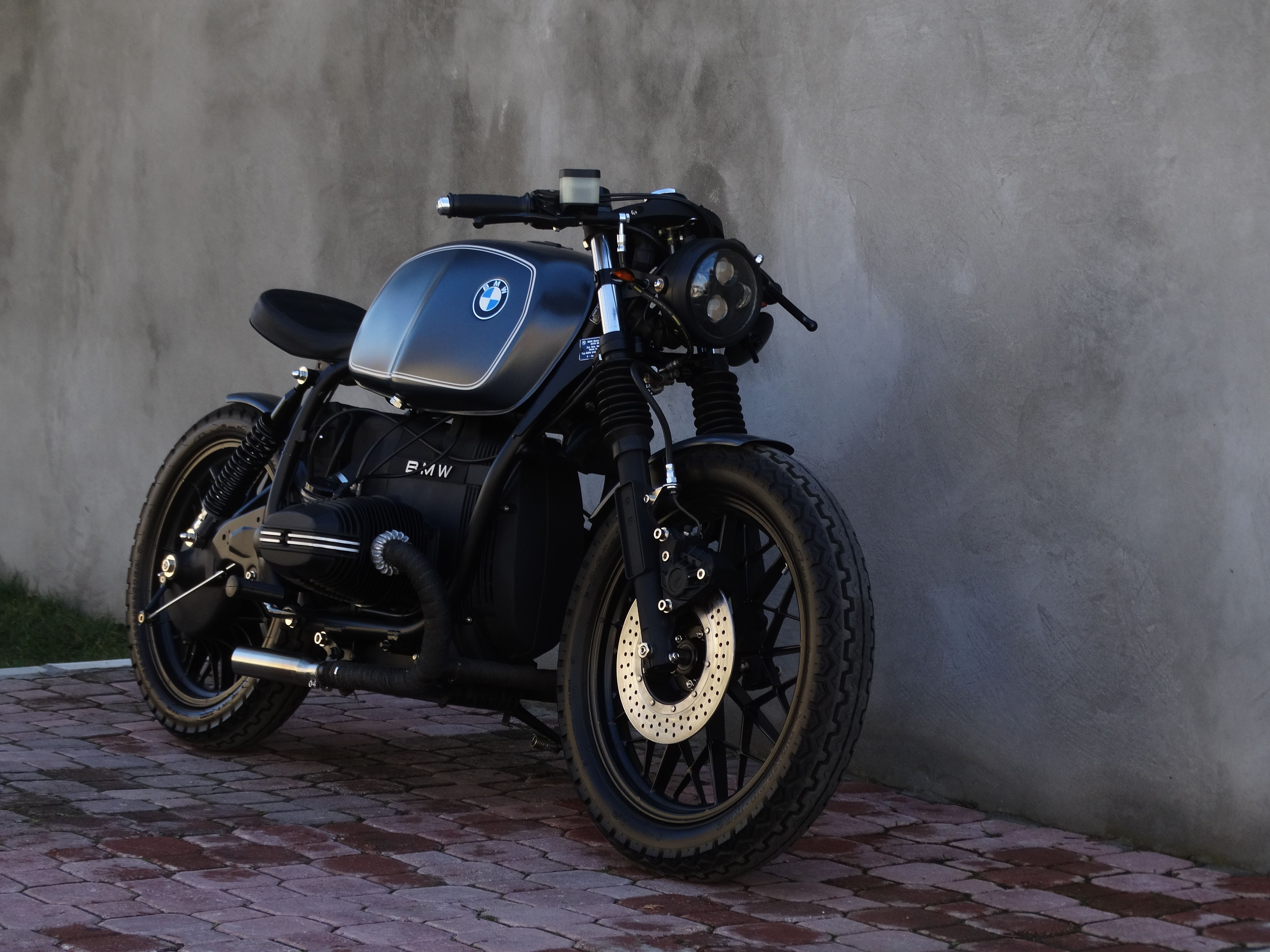 Bmw R 45 Artwork By Garage 12 Bmw R 45 Cafe Racer Moto Bike Bmw