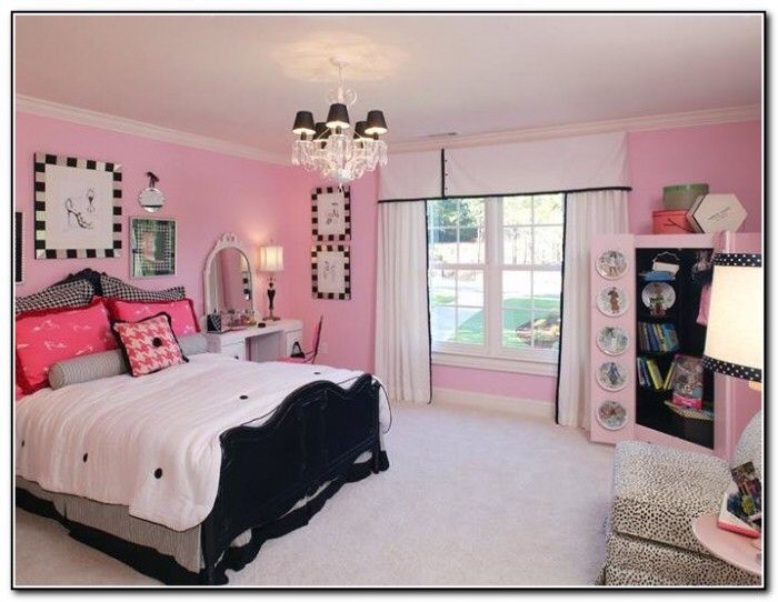 Pink And Black Girls Bedrooms big classy pink and black girls bedroom | witch board | pinterest