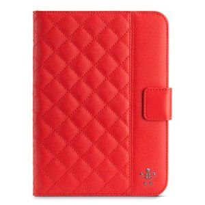 Stylish Red iPad Mini Quilted cover