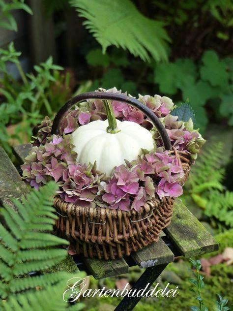 Blumendeko Herbst garten blumen deko plum cottage blumen deko