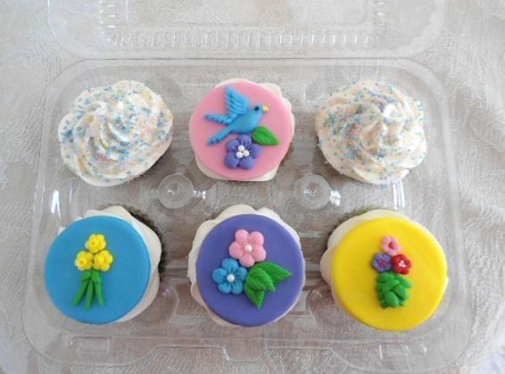 Spring Themed Cupcake Box